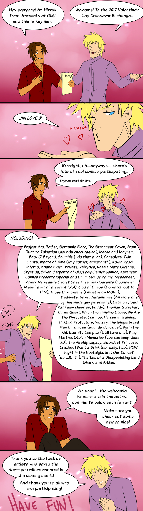 2017 Crossover Exchange, IN LOVE 3: Intro Comic!