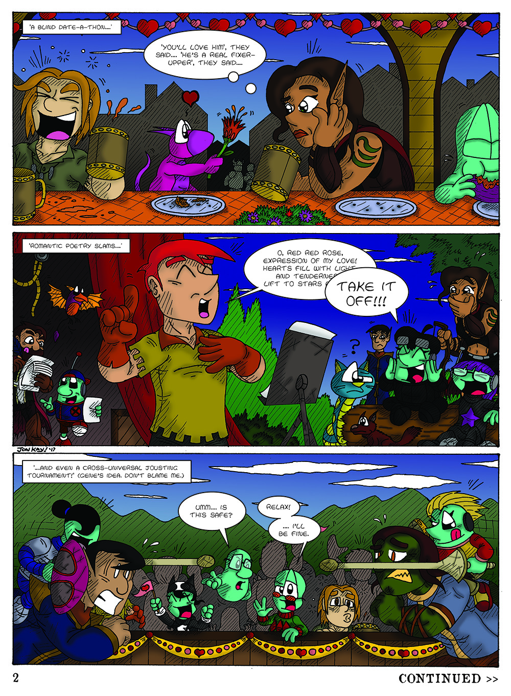 Curse Quest, Page 2 by Cartoonist_at_Large
