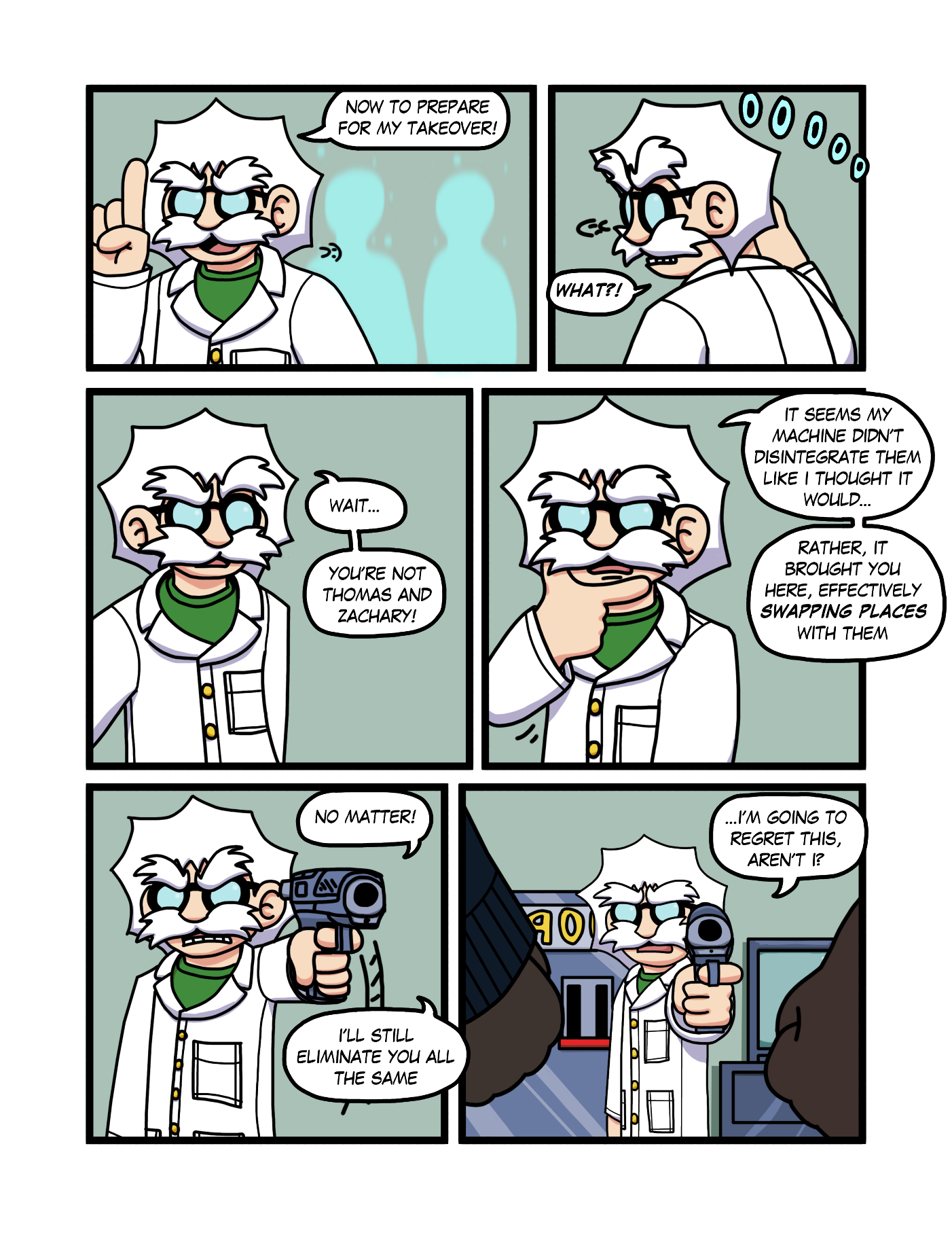 Character-Swap Exchange Intro Comic Page 2